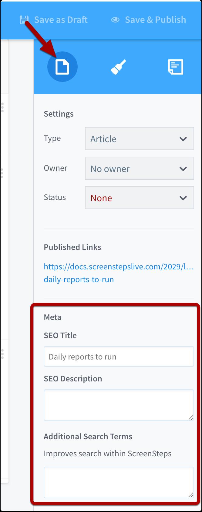Edit search terms