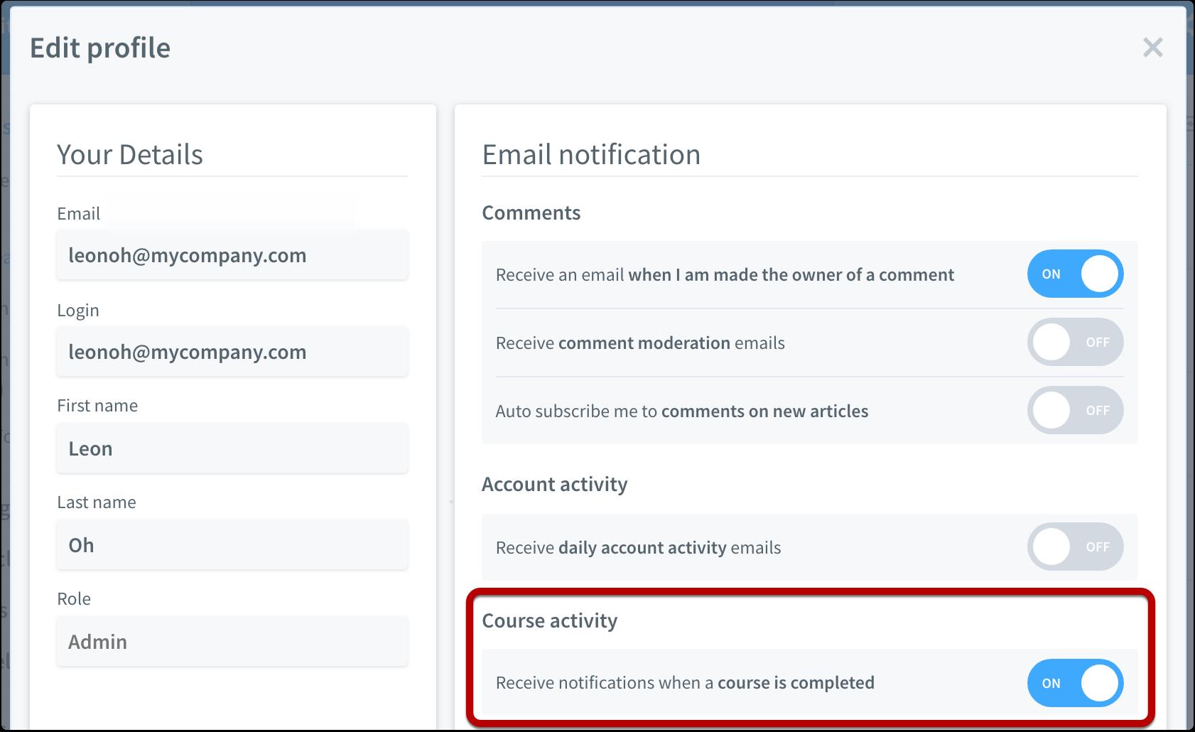 Receive notifications