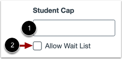 Set Enrollment Cap and Wait List