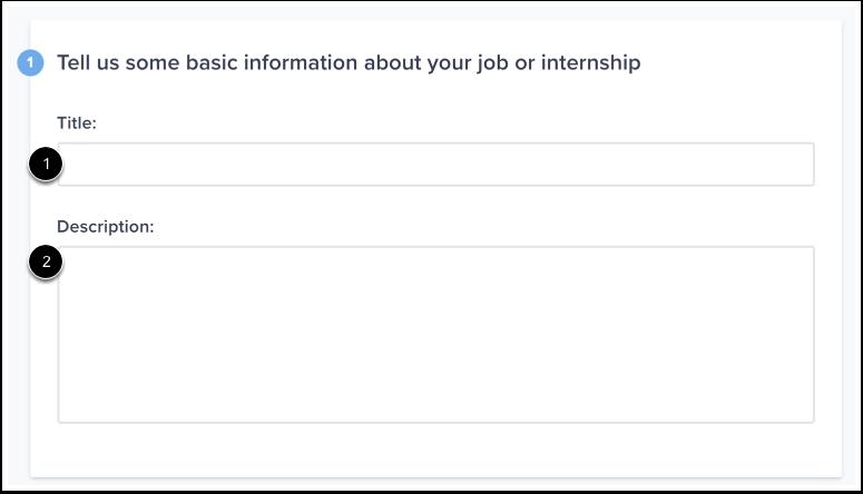 Enter Basic Job Info