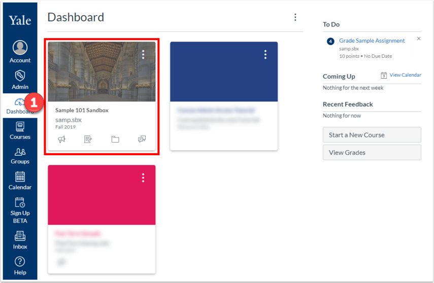 Dashboard in Canvas