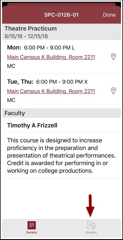 course description page
