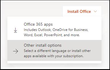 Install office link