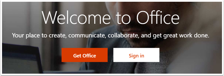Office 365 home page detail