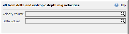 Select the input volumes