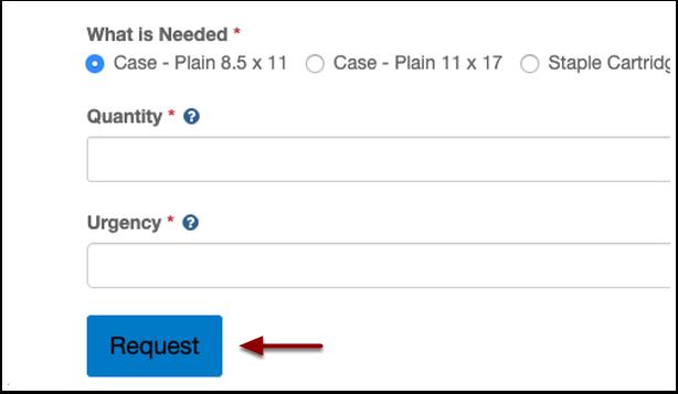 request button