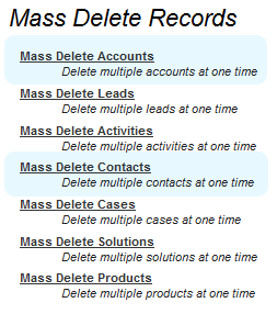 Mass Delete Record