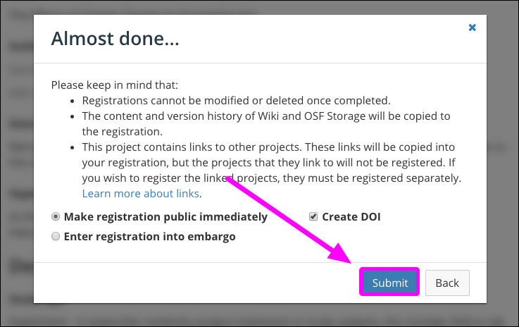 Finalize Your Preregistration