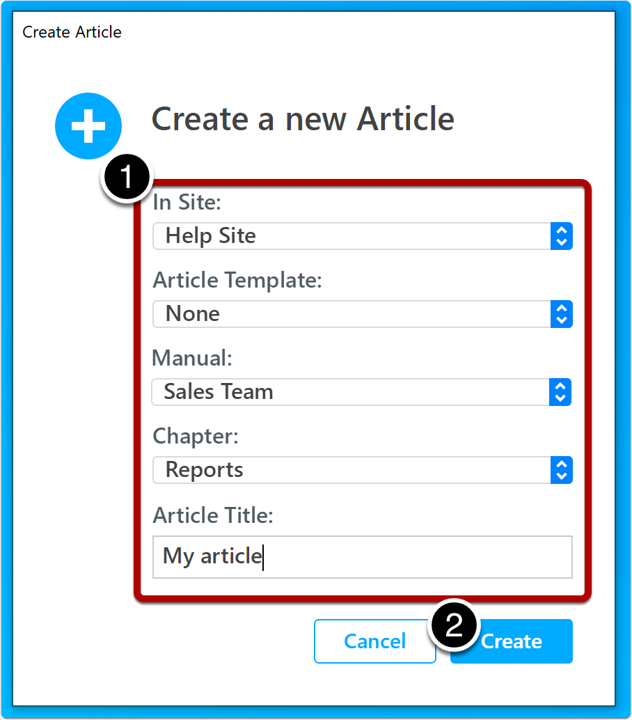 create article