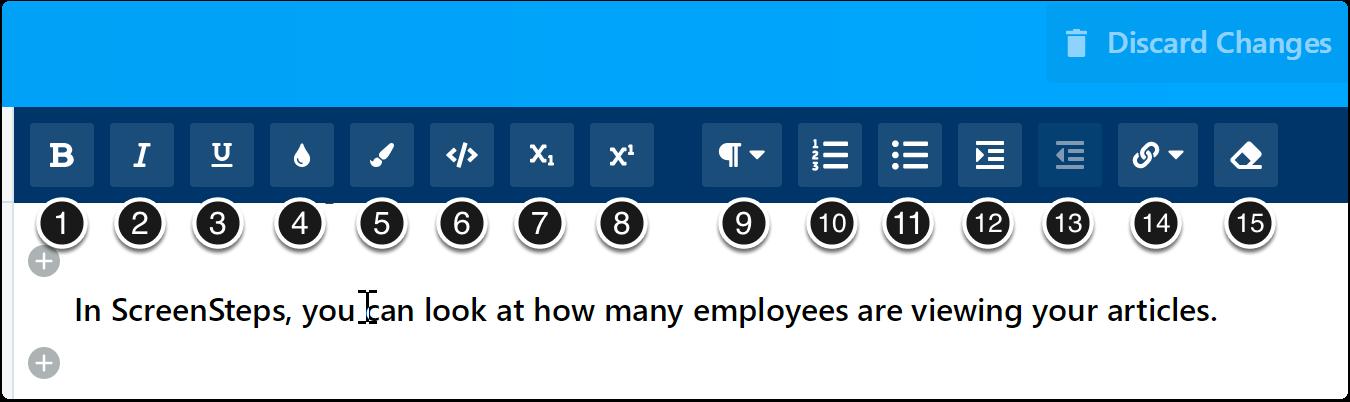 desktop formatting options