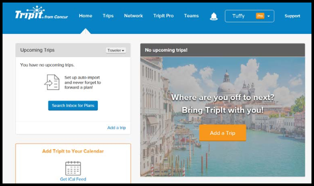 Your TripIt account will be created and linked to your Concur account.