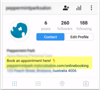Shortcuts - Adding a contact button & online booking link to your Instagram - YouTube - Google Chrome
