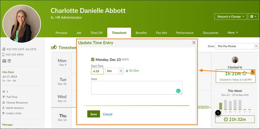 Charlotte Abbott - Timesheet