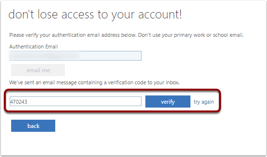 don't lose access to your account! - Google Chrome
