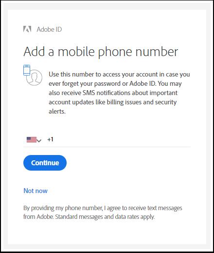 Add a phone number - Adobe ID - Google Chrome