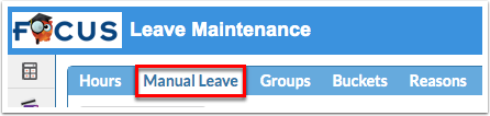 Leave Maintenance