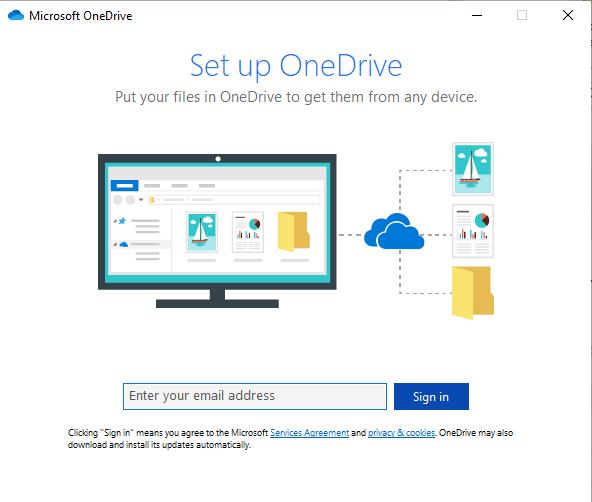 Set up OneDrive