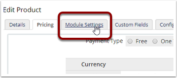 Click Module Settings tab