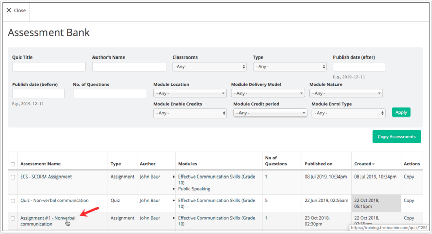 [TW-9082] Update documentation: Allow assessments (quiz, assignment, offline) to be viewed without needing classroom - JIRA