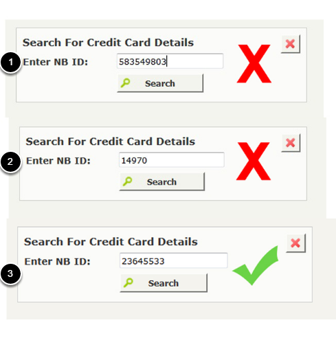 5. Why am I receiving a message saying credit card not found?