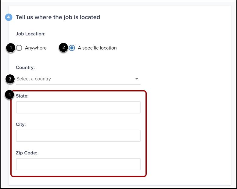 Enter Job Location