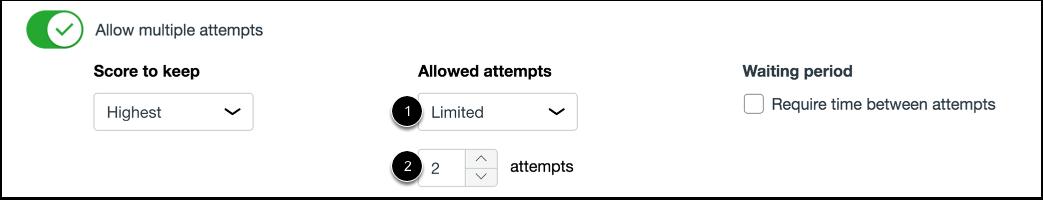 Set Limited Attempts