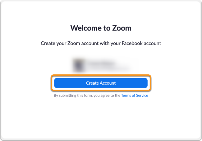 Facebook create account confirmation page