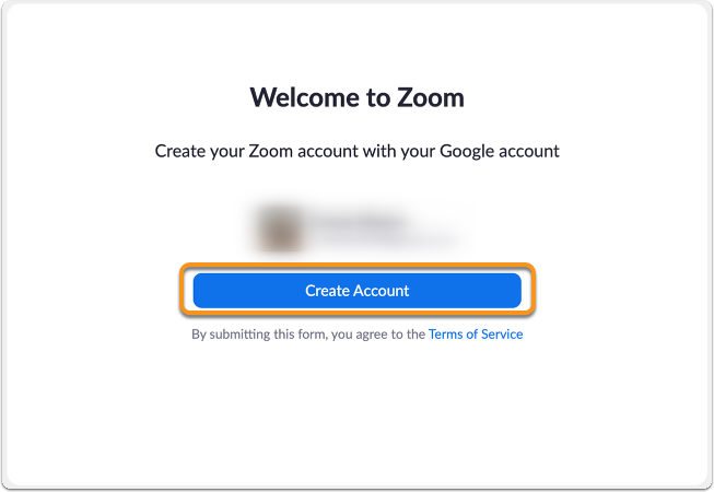 Google create account confirmation page