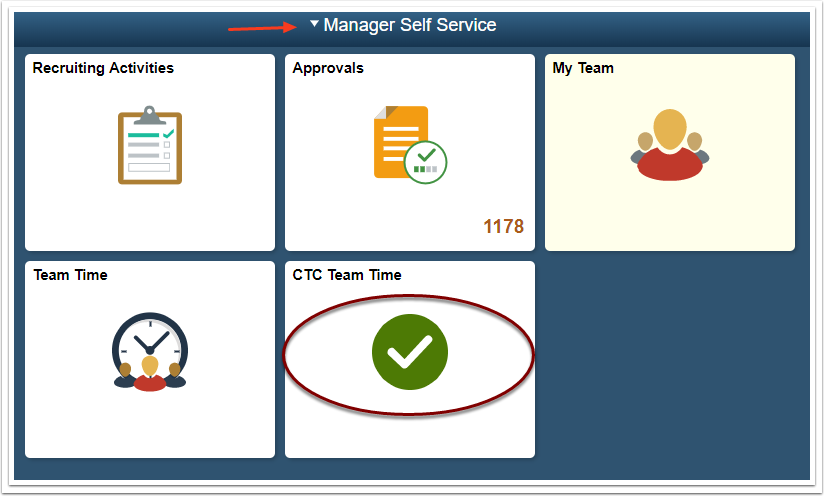 Manager self service page