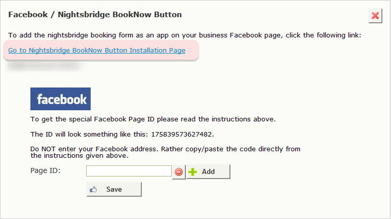 Click on the link to go to NightsBridge BookNow Button installation page