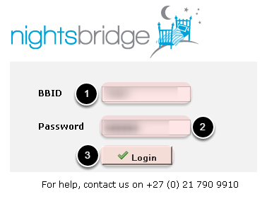 A new page will open. Login with BBID & Password