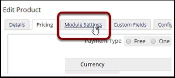 Click Module Settings tab