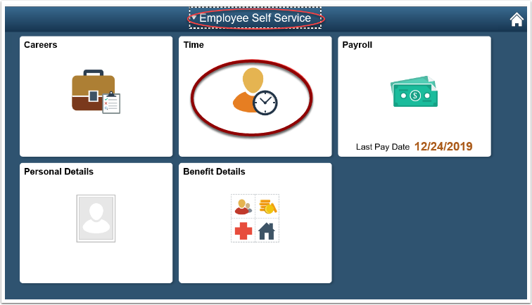 Employee Self Service page