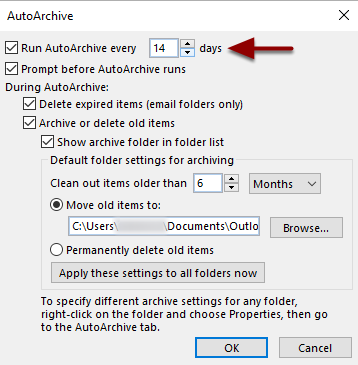 Run AutoArchive Every