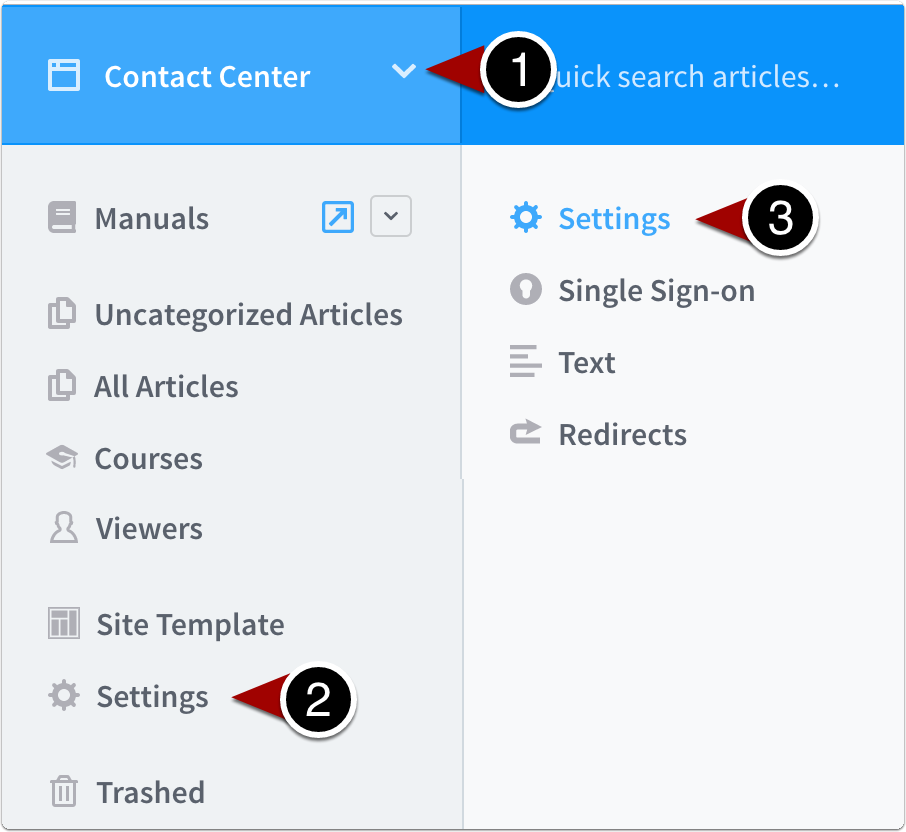 Navigate to site settings