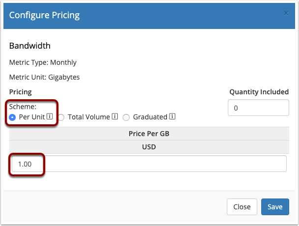 Metric Pricing Example 1