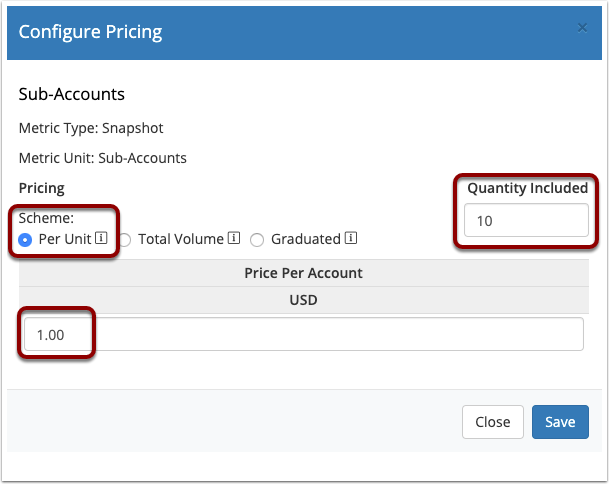 Metric Pricing Example 3