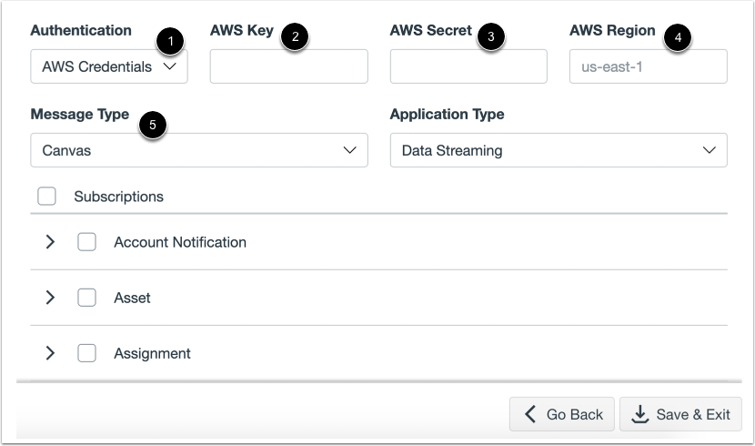 Configure Amazon SQS Data Stream