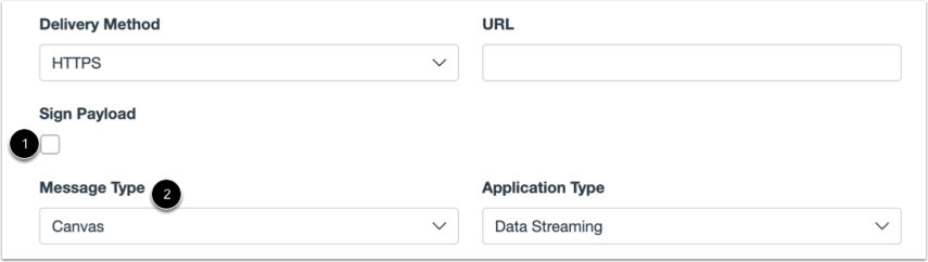 Configure HTTPS Data Stream