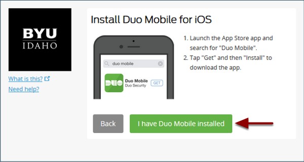 I have Duo Mobile installed