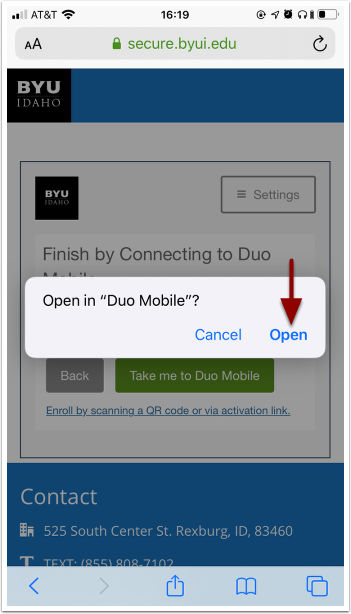 open duo mobile