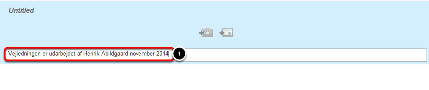 """Afslut vejledningen med et step hvor der kun skrives i """"Step Text"""" feltet"""