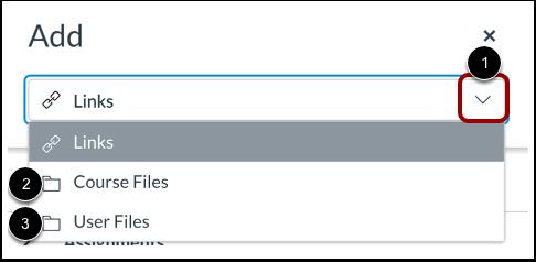 Select Files in Add Menu