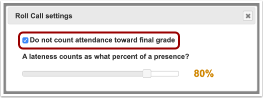 Exclude from Final Grade