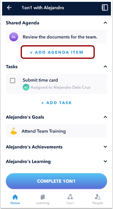 Add Agenda Item