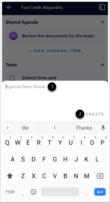 Add Agenda Item Details