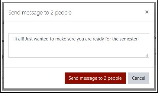 New message window