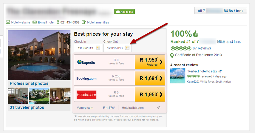 Your TripAdvisor Property Page WITHOUT TripConnect