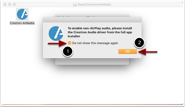 airplay audio popup