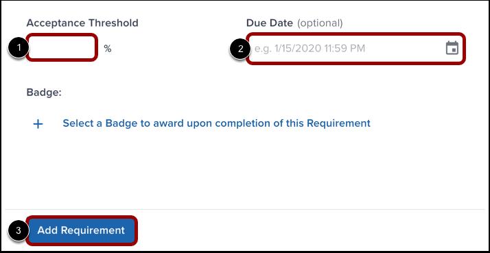 Finalize Requirement Details
